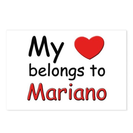 My heart belongs to mariano Postcards (Package of