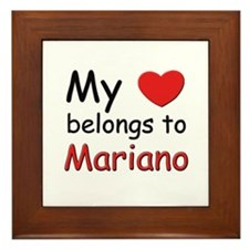 My heart belongs to mariano Framed Tile