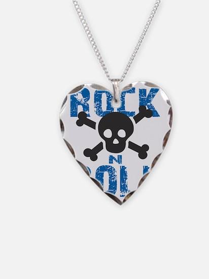 rock n roll skull blue Necklace