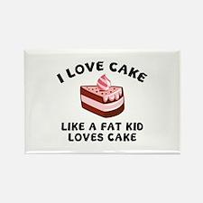 I Love Cake Like A Fat Kid Loves Cake Rectangle Ma