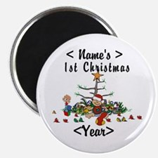 Personalize 1st Christmas Magnet