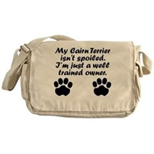Well Trained Cairn Terrier Owner Messenger Bag