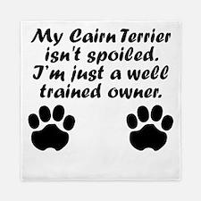 Well Trained Cairn Terrier Owner Queen Duvet