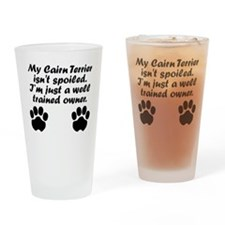 Well Trained Cairn Terrier Owner Drinking Glass