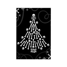 Gothic Bones Christmas Tree Magnets