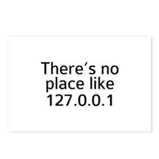 There's No Place Like 127.0.0.1 Postcards (Package
