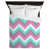 Gray and pink chevron Full / Queen