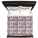 Paris Eiffel Tower Lt Blue Repeat King Duvet