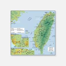 "taiwanrail Square Sticker 3"" x 3"""