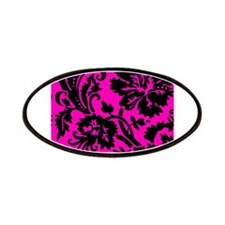 Hot Pink and Black Damask Patches