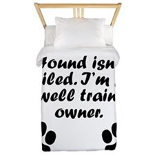 Well Trained Basset Hound Owner Twin Duvet