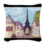 Paris EIffel Tower landscape black aceent Woven Th