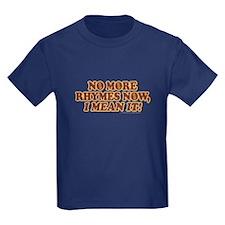 Princess Bride No More Rhymes Kids Dark T-Shirt
