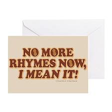 Princess Bride No More Rhymes Greeting Card