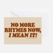 Princess Bride No More Rhymes Greeting Card