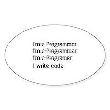 I Write Code Decal