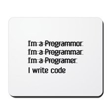 I Write Code Mousepad