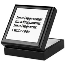 I Write Code Keepsake Box