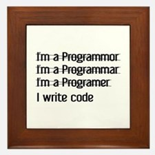 I Write Code Framed Tile