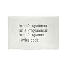 I Write Code Rectangle Magnet (100 pack)