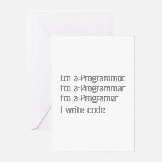 I Write Code Greeting Card