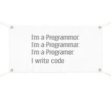 I Write Code Banner