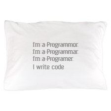 I Write Code Pillow Case