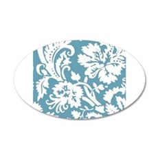 Blue and White Damask Wall Sticker