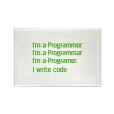 I Write Code Rectangle Magnet