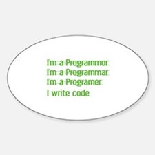 I Write Code Decal