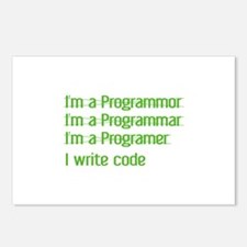 I Write Code Postcards (Package of 8)