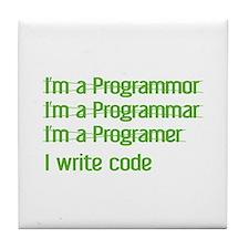 I Write Code Tile Coaster