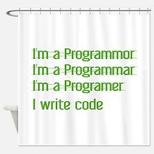 I Write Code Shower Curtain