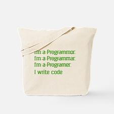 I Write Code Tote Bag