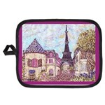 Paris Eiffel Tower pointillism berry Potholder