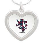 Lion - Lindsay Silver Heart Necklace