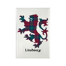 Lion - Lindsay Rectangle Magnet