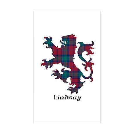 Lion - Lindsay Sticker (Rectangle)