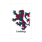 Lion - Lindsay Sticker (Rectangle 50 pk)