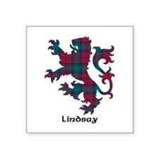 "Lion - Lindsay Square Sticker 3"" x 3"""