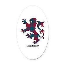 Lion - Lindsay Oval Car Magnet