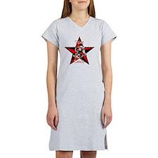 Team Chaos T-Shirt White Letter Women's Nightshirt