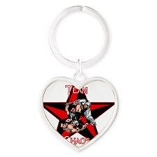Team Chaos T-Shirt White Letters Heart Keychain
