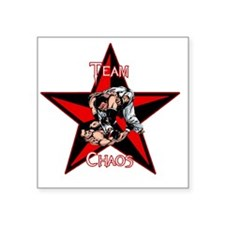"Team Chaos T-Shirt White Le Square Sticker 3"" x 3"""