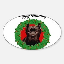 Happy Holidays Cane Corso Dog Decal