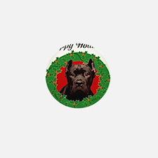 Happy Holidays Cane Corso Dog Mini Button