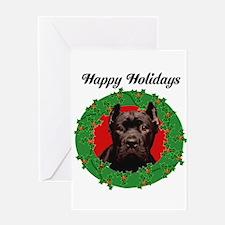Happy Holidays Cane Corso Dog Greeting Cards