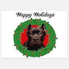 Happy Holidays Cane Corso Dog Invitations