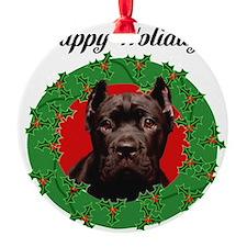 Happy Holidays Cane Corso Dog Ornament