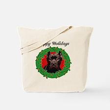 Happy Holidays Cane Corso Dog Tote Bag
